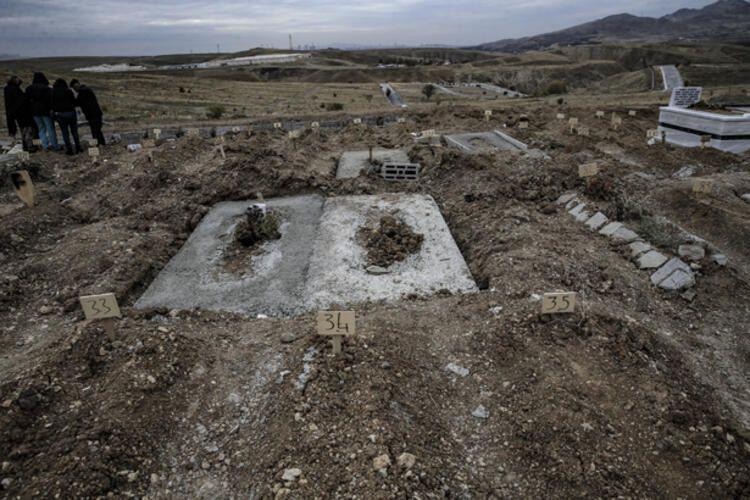 Ankara'da korona virüsten ölenler bu mezarlığa gömülüyor! İşte tüyler ürperten manzara - Sayfa 2