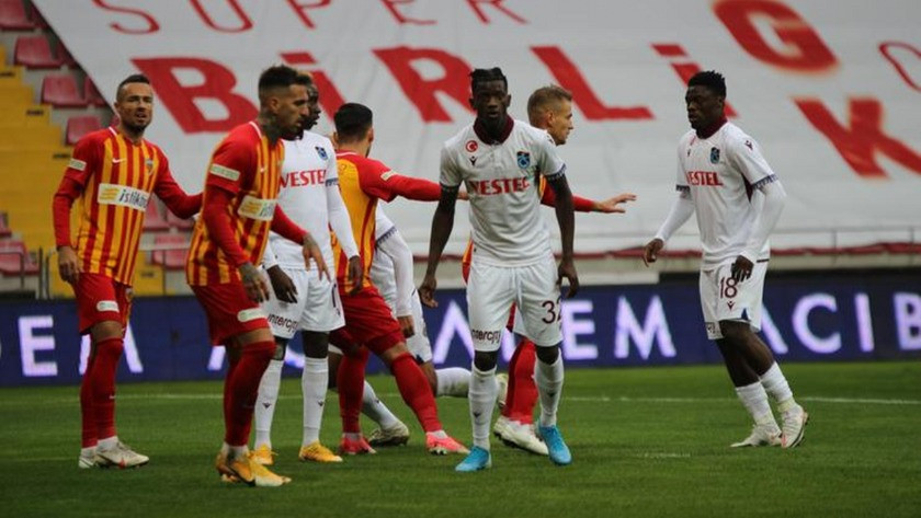 Kayserispor 0-0 Trabzonspor maçın sonucu