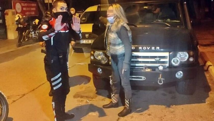 Polisin dur ihtarına uymayan sürücü ortalığı birbirine kattı
