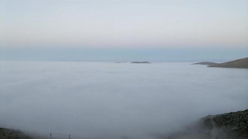 Kahramanmaraş Elbistan'da sis denizi
