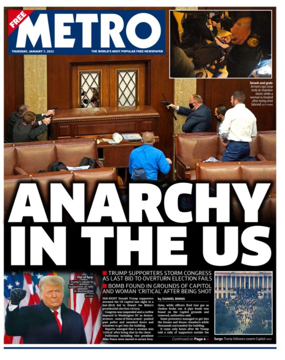 ABD'de anarşi! Dünya basını kongre baskınını böyle gördü... - Sayfa 4