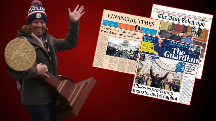 ABD'de anarşi! Dünya basını kongre baskınını böyle gördü...