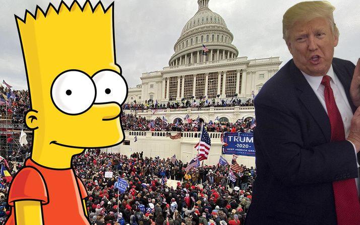 ABD Kongre baskını bilerek dünyayı şaşkına çeviren Simpsonslar'ın Trump'ın ölüm kehaneti olay oldu! - Sayfa 1