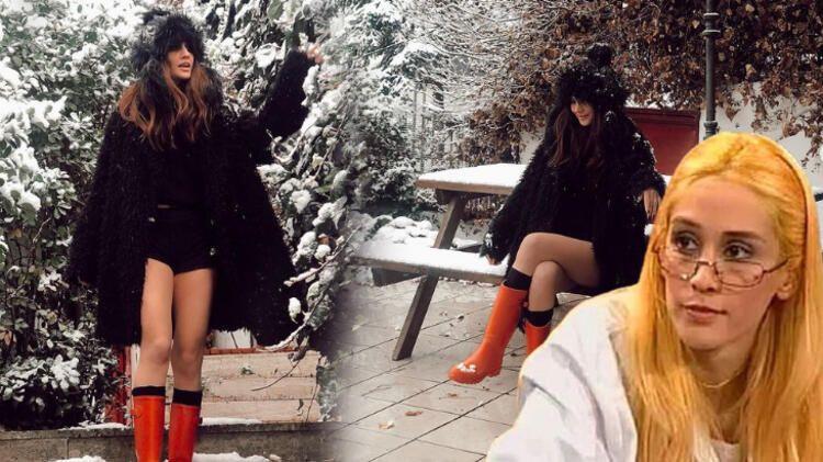 Değişimiyle gündem olan Zeynep Koçak'tan mini şortuyla kar pozu! - Sayfa 1