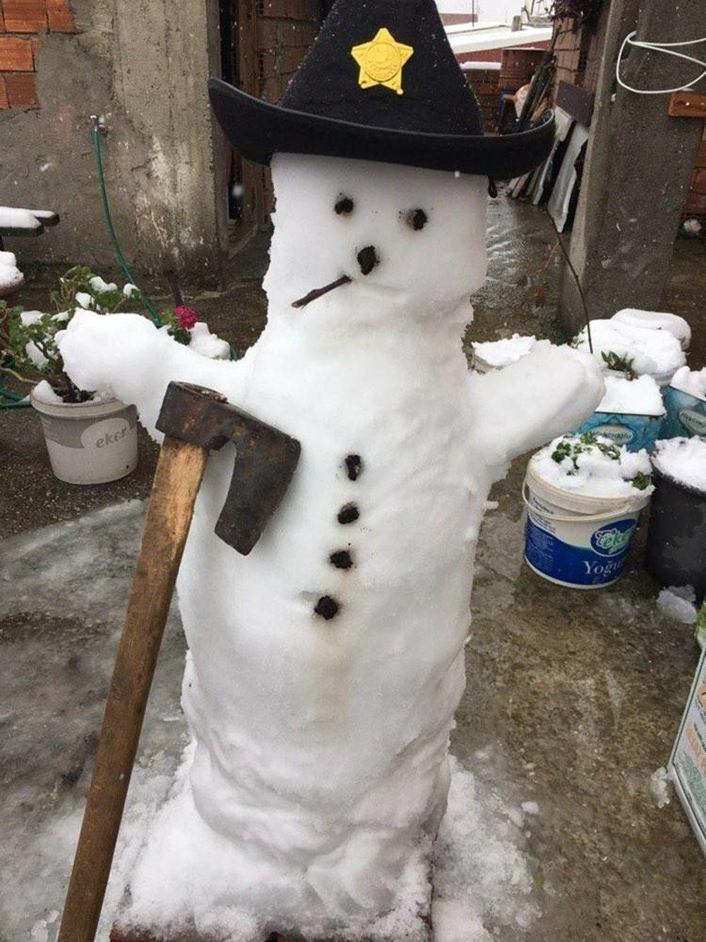 Kardan adam yapımında sınır tanımayan fikirler şaşkına çevirdi! - Sayfa 2