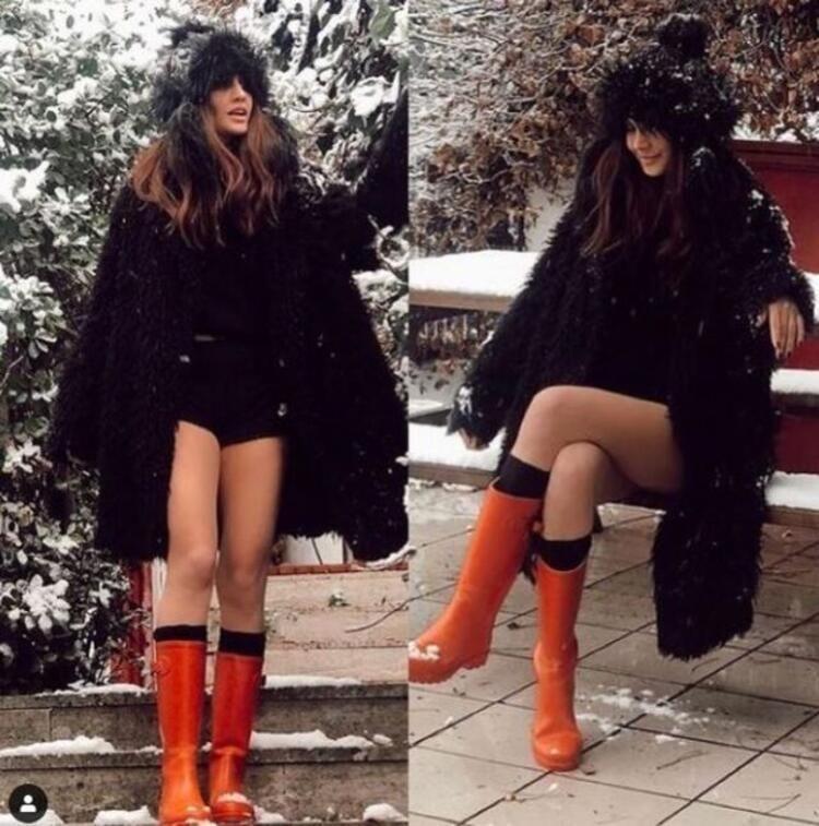 Değişimiyle gündem olan Zeynep Koçak'tan mini şortuyla kar pozu! - Sayfa 3