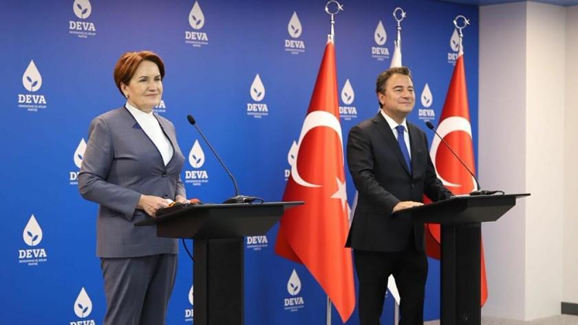 """Babacan ve Akşener'den ortak basın toplantısında """"Anayasa"""" mesajı"""