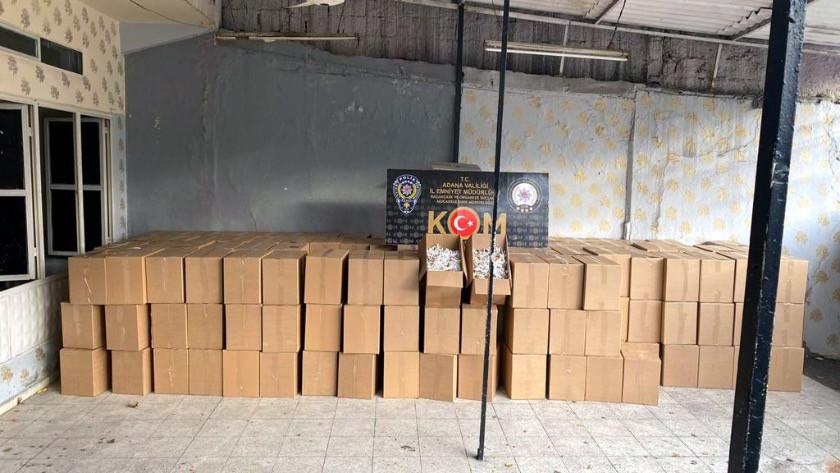 Adana'da 2 milyon 250 bin kaçak makaron ele geçirildi