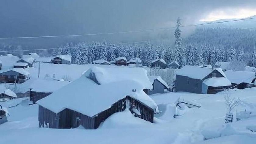 Sakarya Hendek'te kar yağışı nedeniyle yayla yolları kapatıldı