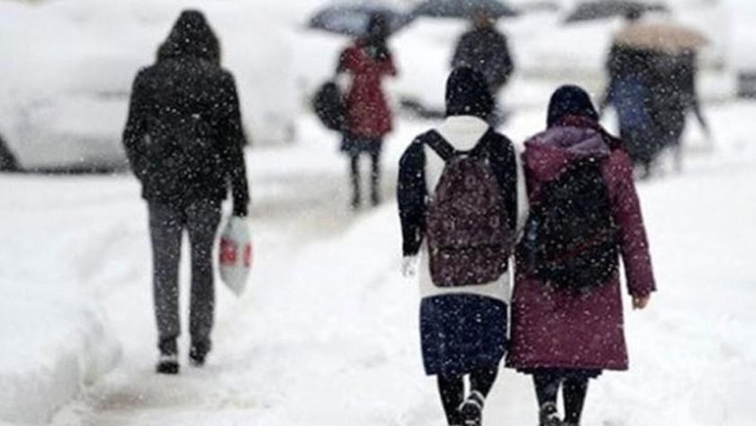 İstanbul dahil 12 ilde yüz yüze eğitime kar engeli