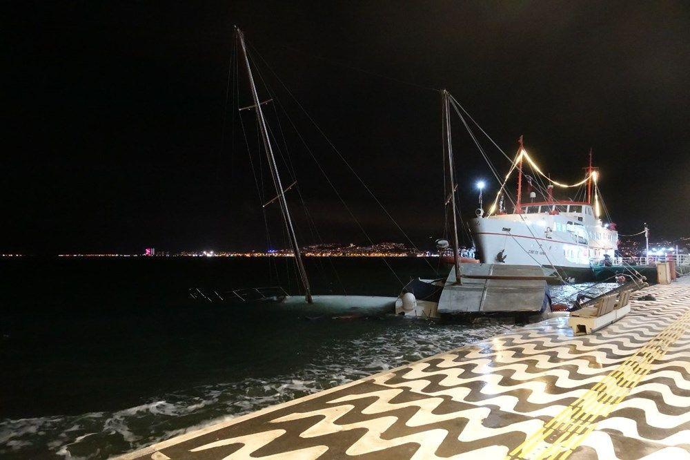 İzmir'de fırtına kabusu geri döndü! Ağaçlar devrildi, tekne yan yattı - Sayfa 3