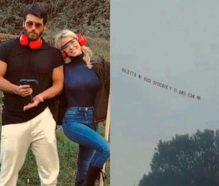 Can Yaman'dan Diletta Leotta'ya süpriz evlilik teklifi! Aşkını göklere yazdı! - Sayfa 1