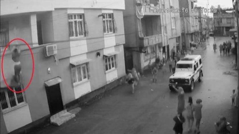 Eşi tarafından odaya kilitlenip darbedilen kadın balkondan aşağı düştü