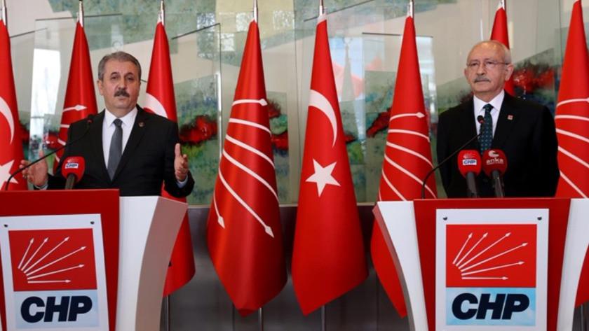Kılıçdaroğlu ile düzenlediği ortak basın toplantısına Destici'nin HDP'ye yönelik sözleri damga vurdu