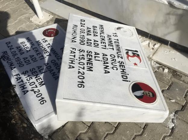Adana'da 15 Temmuz şehidi ikiz polislerin mezarlarına saldırı - Sayfa 2
