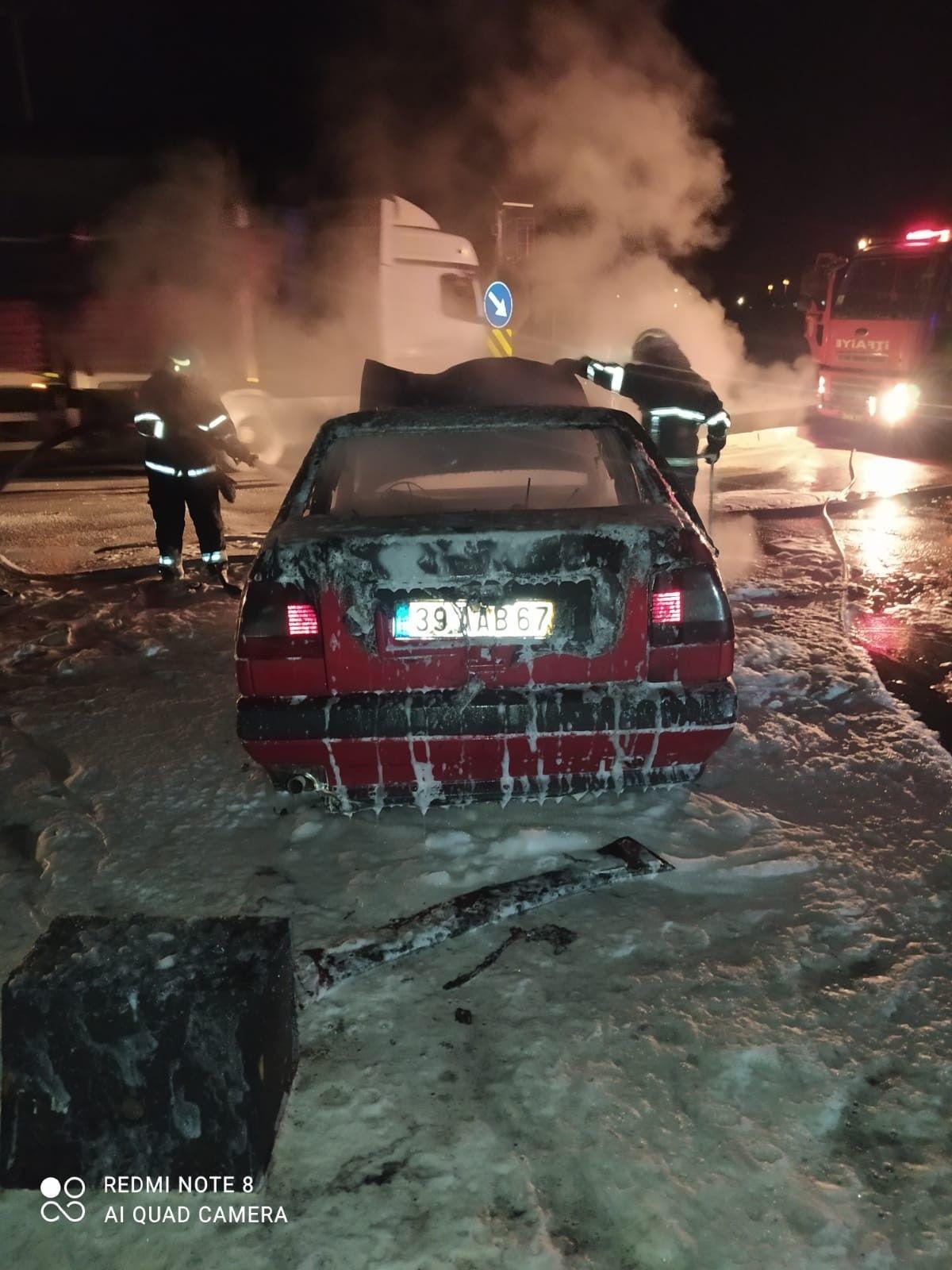 Kırklareli'nde tıra çarpan otomobil alev topuna döndü! - Sayfa 2