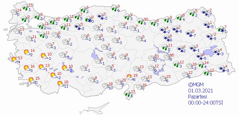 Meteoroloji Genel Müdürlüğü'nden 5 günlük hava durumu tahminleri - Sayfa 1