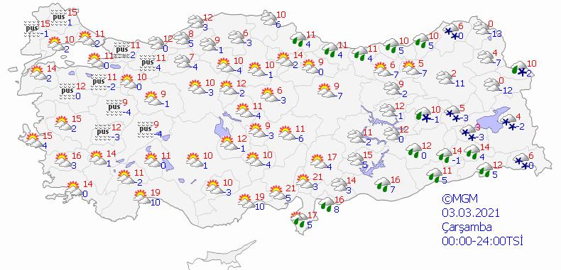 Meteoroloji Genel Müdürlüğü'nden 5 günlük hava durumu tahminleri - Sayfa 3