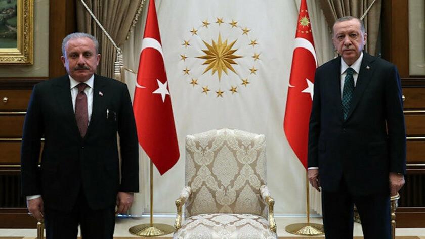 Erdoğan TBMM Başkanı Şentop'u ağırladı