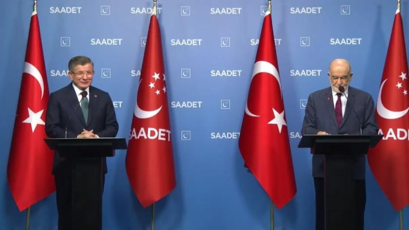 Ahmet Davutoğlu ve Karamollaoğlu'ndan ortak açıklama