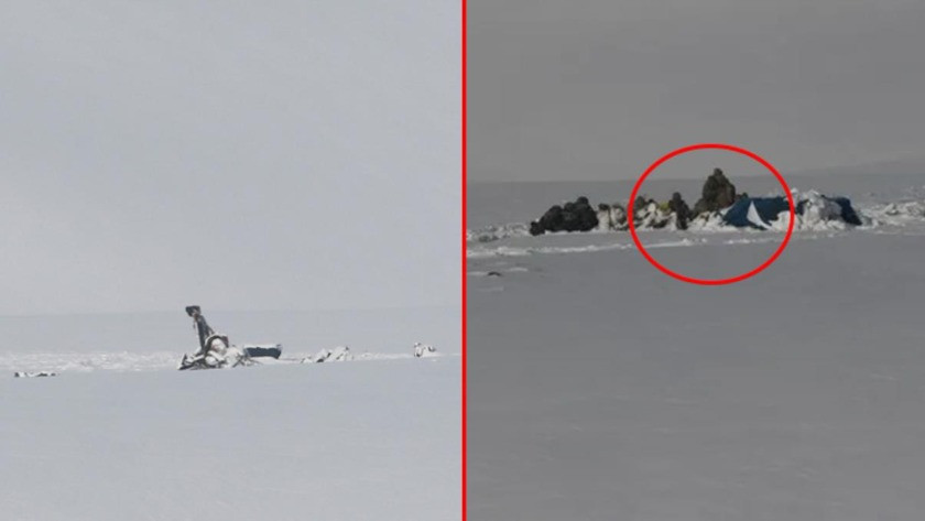 11 şehit verdiğimiz helikopter kazası sonrası bölgeden yeni görüntü!