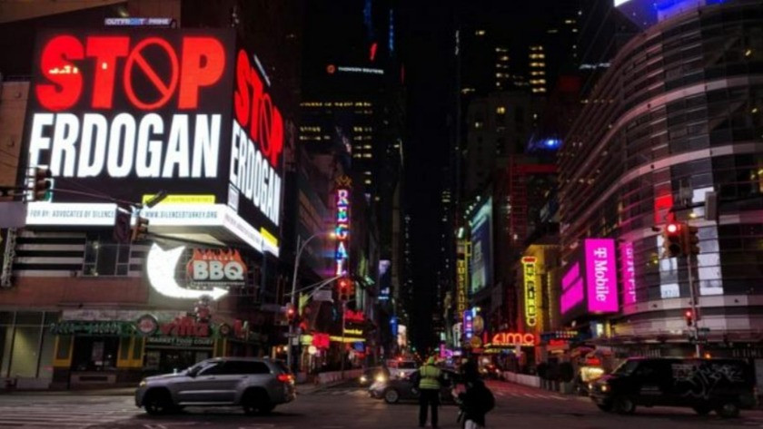 ABD'deki 'Stop Erdoğan' reklamında FETÖ parmağı !