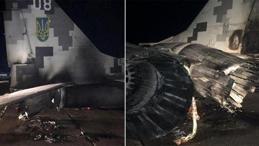 Hava üssüne giren alkollü subay, arabasıyla savaş uçağına çarptı