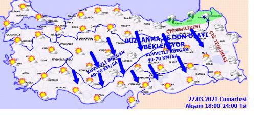Meteoroloji Genel Müdürlüğü'nden kar ve fırtına uyarısı! - Sayfa 3