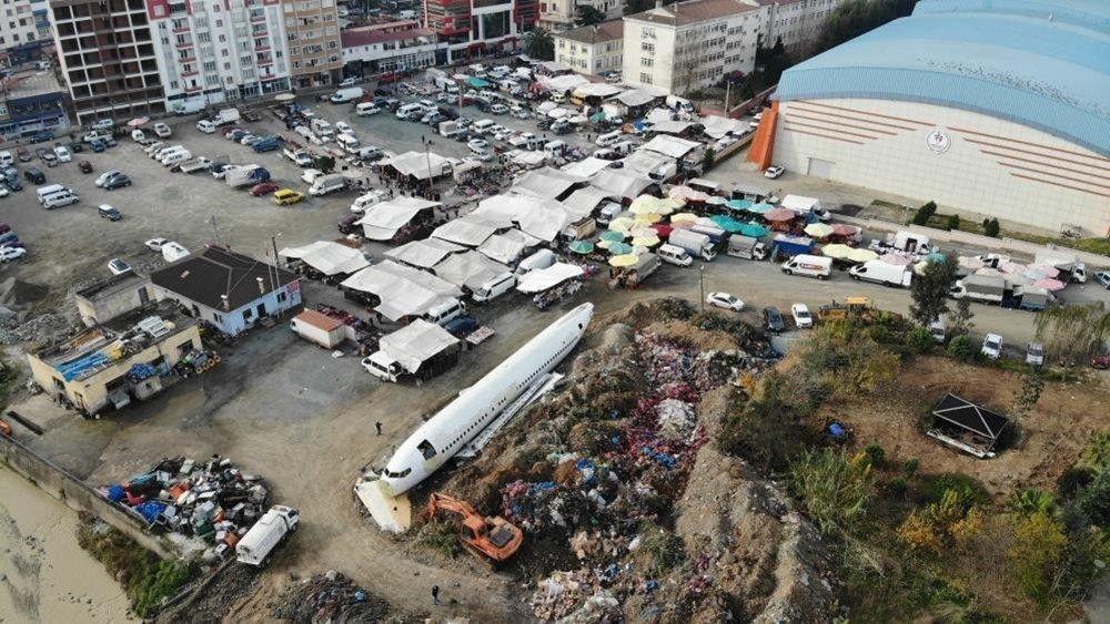 Trabzon'da kaderine terk edilen yolcu uçağı pide salonu olacak - Sayfa 3