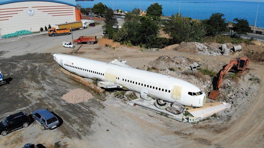 Trabzon'da kaderine terk edilen yolcu uçağı pide salonu olacak - Sayfa 2