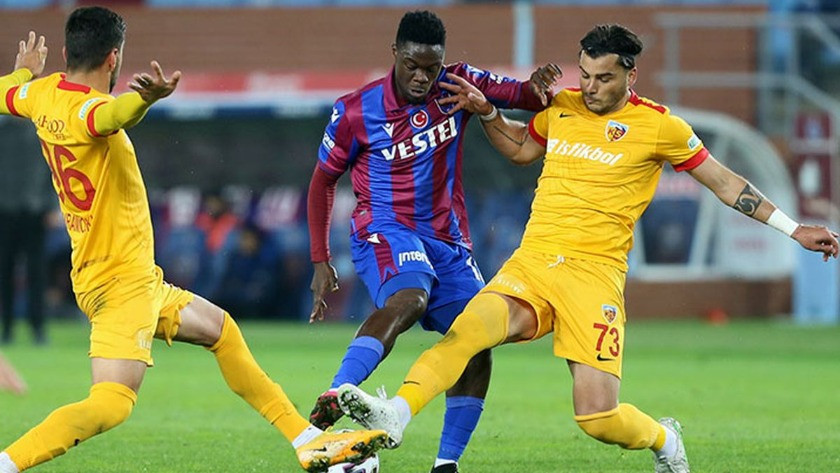 Trabzonspor, Kayserispor engelini geçemedi