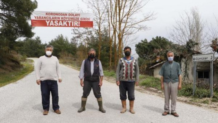 O köye yabancı giriş ve çıkışlar yasaklandı, vaka sıfırlandı