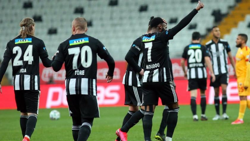 Beşiktaş, Kayserispor'u 3 golle mağlup etti