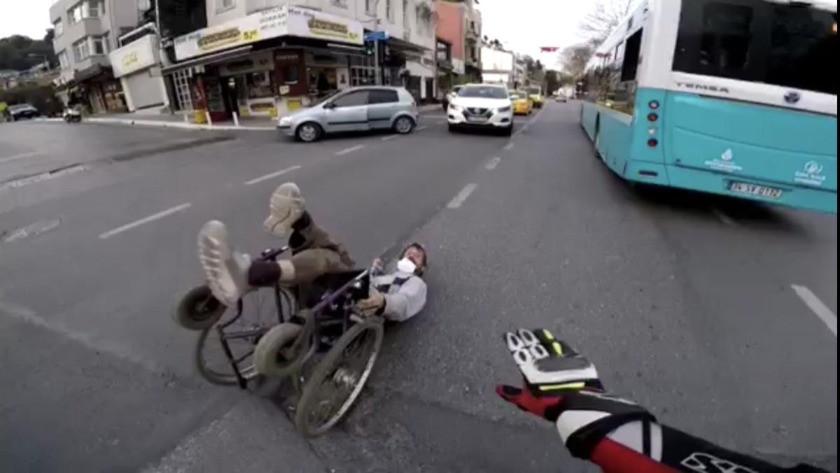 Engelli adamı kimse umursamadı! İstanbul'da insanlık ölmüş dedirten olay kamerada