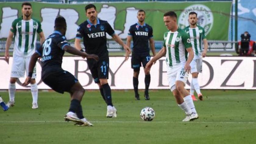 Trabzonspor-Konyaspor Süper Lig maç sonucu: 1-1