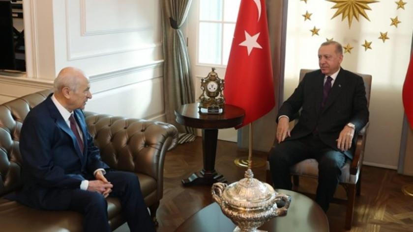 Cumhurbaşkanı Erdoğan ve Devlet Bahçeli'den sürpriz görüşme