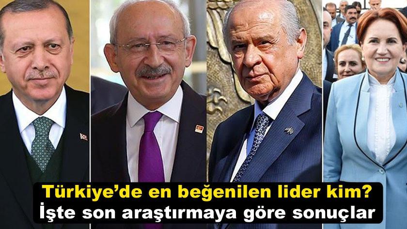 Türkiye'de en beğenilen lider kim? İşte son araştırmaya göre sonuçlar!