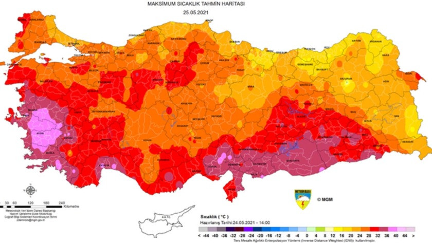 Bu bölgelerde yaşayanlar dikkat! Meteoroloji'den sıcaklık uyarısı!