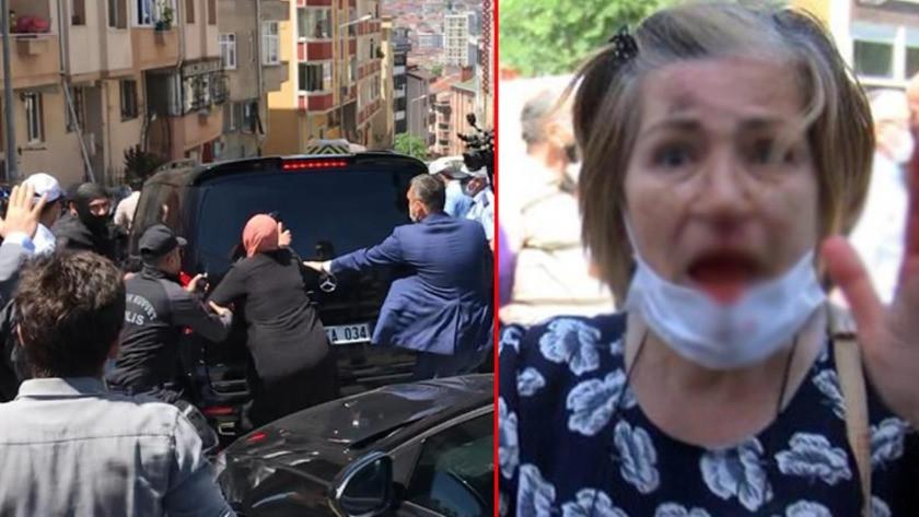Ekrem İmamoğlu'nu protesto eden grup makam aracına saldırdı