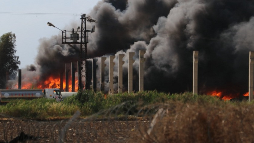 Adana'da plastik geri dönüşüm fabrikasından yangın