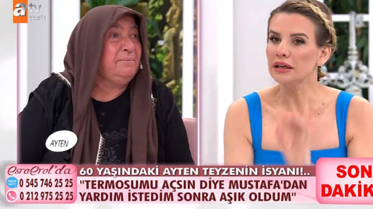 Esra  Erol'da 60 yaşındaki Ayten Teyze evden kaçan genç aşkı için canlı yayında gözyaşı döktü! - Sayfa 2