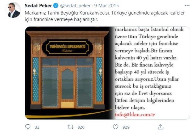 Kahve firması Sedat Peker tarafından 6 yıl önce satın alınmış - Sayfa 1