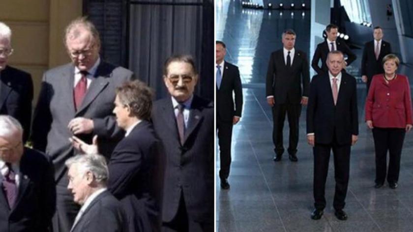 Melih Gökçek 'nerden nereye' dedi 2 NATO aile fotoğrafı paylaştı