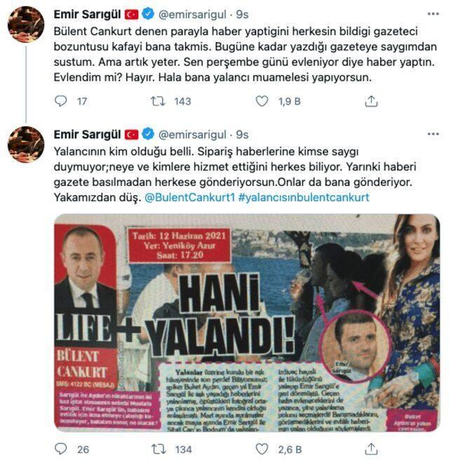 Emir Sarıgül, Buket Aydınla evliliği iddasını yazan gazeteciye öfkeli - Sayfa 4