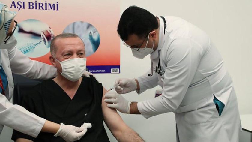 Erdoğan'dan aşı karşıtlarına tek cümlelik tepki