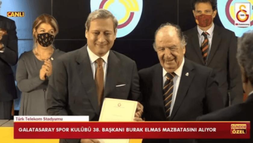 Galatasaray'da yeni başkan Burak Elmas mazbatasını aldı!
