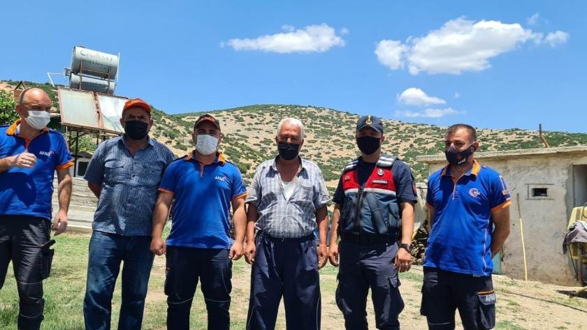 Kula'da kayıp şahıs jandarma ve AFAD ekipleri tarafından bulundu