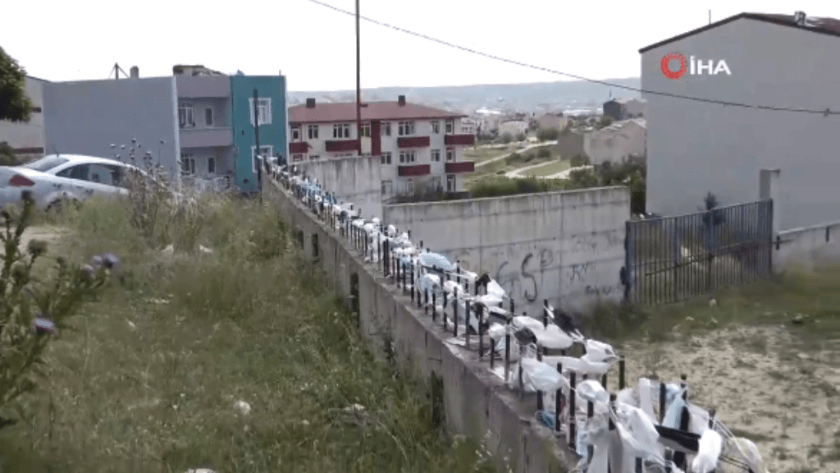 Arnavutköy'de koronavirüs hatıra duvarı!