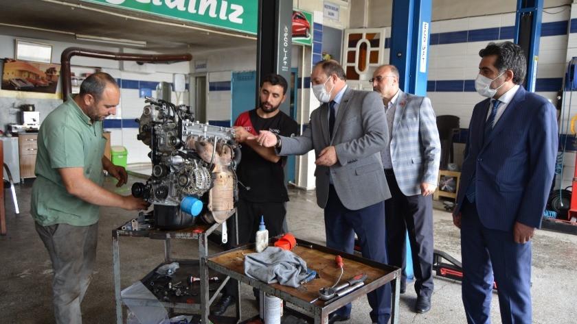MHP Erzurum İl Başkanı'ndan sanayi esnafına ziyaret