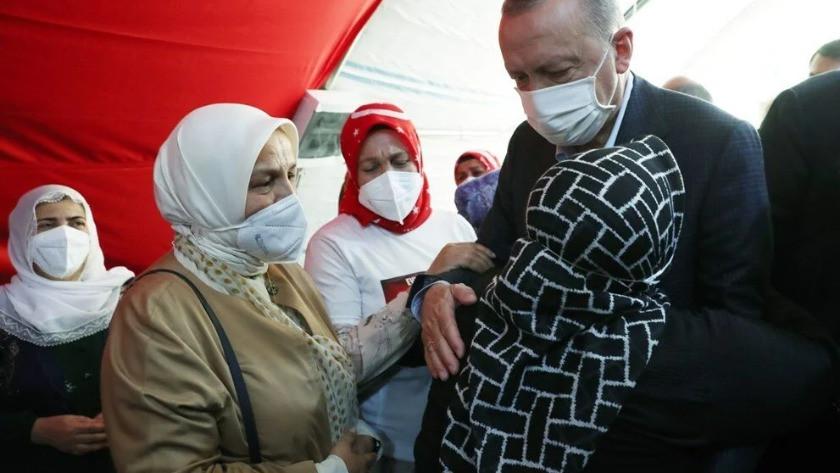 Cumhurbaşkanı Erdoğan'dan Diyarbakır Anneleri'e ziyaret